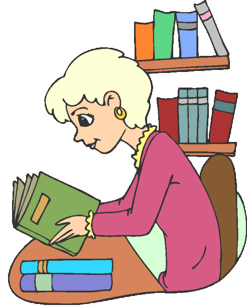 girl reading book image